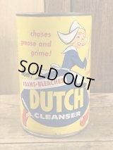 Foams Bleaches Dutch Cleanser Can ダッチ ビンテージ 缶 洗剤 アドバタイジング 50年代