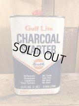 Gulf Lite Charcoal Starter Oil Can オイル缶 ビンテージ ガルフ ブリキ 50〜60年代
