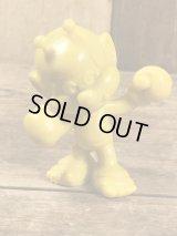 "Astrosniks ""Boxer"" Yellow Color PVC Figure アストロスニック ビンテージ PVCフィギュア スマーフ 80年代"