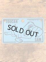 """Kelloggs """"Toucan Sam"""" Plastic License Plate ケロッグ ビンテージ ライセンスプレート トゥーカンサム 70年代"""