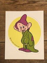 "Walt Disney Character ""Dopy"" Sticker ドーピー ビンテージ ステッカー 七人の小人 ディズニー 80年代"