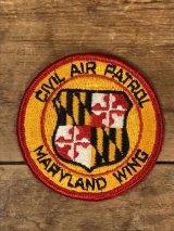 Civil Air Patrol Maryland Wing Patch 民間航空パトロール ビンテージ ワッペン メリーランド州 パッチ 70〜80年代