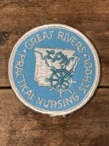 Great Rivers Practical Nursing School Patch カレッジ ビンテージ ワッペン パッチ 〜70年代