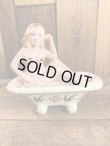 Nude Girl Bathtub Ceramic Ashtray  ヌード ビンテージ アシュトレイ 灰皿 MADE IN JAPAN 50〜60年代