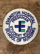 Evanston Hospital School Of Nursing Patch カレッジ ビンテージ ワッペン パッチ 〜70年代