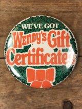 Wendy's Restaurant Big Pinback ウェンディーズ ビンテージ 缶バッジ ファーストフード 80年代