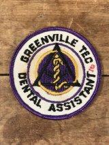 Greenville Tec Dental Assistant Patch カレッジ ビンテージ ワッペン パッチ 〜70年代