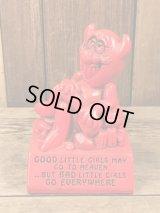 Paula Red Devil Message Doll レッドデビル ビンテージ メッセージドール 置物 70年代