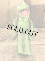 Fisher Price Kermit The Frog Plush Doll カーミット ビンテージ プラッシュドール マペッツ 80年代