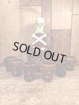Cross Bone Skull Lay Off Poison Decanter Shot 6 Set スカル ビンテージ デカンタ クロスボーン 50〜60年代