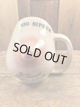 """Big Sipper"" Boob Nipple Ceramic Coffee Mug おっぱい ビンテージ マグカップ ヌード ジョーク 70年代"