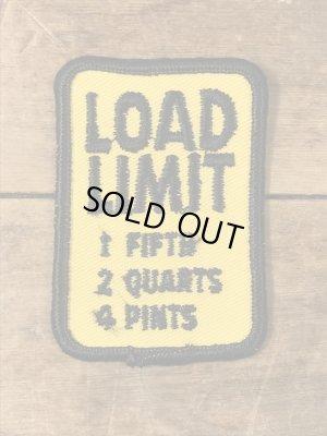 標識の形をしたLoad Limitの70年代ビンテージ刺繡ワッペン