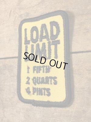 標識の形をしたLoad Limitの70'sヴィンテージ刺繡パッチ