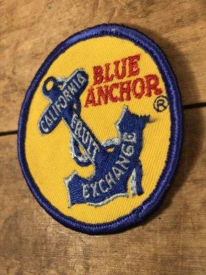 アメリカのフルーツ梱包ラベルBlue Anchorの50's〜ヴィンテージ刺繡パッチ