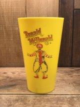Ronald McDonald Plastic Cap ロナルド ビンテージ プラスチックカップ マクドナルド 70年代