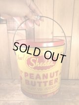 Shedd's Peanut Butter Tin Pail Can ピーナッツバター ビンテージ ブリキ缶 50〜60年代