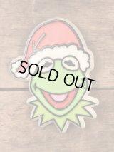Muppet Show Kermit Plastic Badge カーミット ビンテージ バッジ マペッツ 70年代