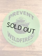 "Smokey Bear ""Prevent Wildfires!"" Mouse Pad スモーキーベア ビンテージ マウスパッド 企業キャラ 90年代〜"