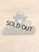 "Smokey Bear ""Prevent Wildfires!"" Plastic Pins スモーキーベア ビンテージ ピンバッジ アドキャラ 90年代〜"