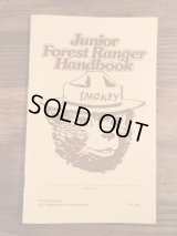 Smokey Bear Junior Forest Ranger Handbook スモーキーベア ビンテージ ハンドブック 企業キャラ 80年代