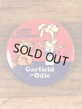 Garfield and Odie Tin Badge ガーフィールド ビンテージ 缶バッジ 80年代