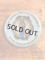 Smokey Bear Tin Badge スモーキーベア ビンテージ 缶バッジ アドキャラ 80年代〜