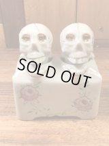 Skull Ceramic Nodder Salt & Pepper スカル ビンテージ ソルト&ペッパー 首振り 50年代