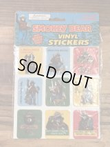 Smokey Bear Vinyl Stickers スモーキーベア ビンテージ ビニールステッカー アドバタイジングキャラクター 80年代〜