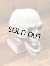 Skull On Book Ceramic Nodder Match Holder スカルオンブック ビンテージ マッチホルダー 顎揺れ 50年代