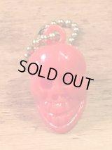 """Skull Keychain""""Red"""" スカルキーチェーン キーホルダー ビンテージ 60〜70年代"""