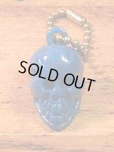 "Skull Keychain""Blue"" スカルキーチェーン キーホルダー ビンテージ 60〜70年代"
