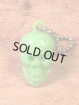 "Skull Keychain""Olive green"" スカルキーチェーン キーホルダー ビンテージ 60〜70年代"