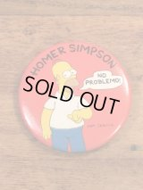 """The Simpson's """"Homer Simpson"""" Badge シンプソンズ ビンテージ 缶バッジ ホーマーシンプソン 90年代"""