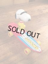 "Aviva Snoopy ""Joe Cool"" Skateboard Toy スヌーピー ビンテージ スケボー ジョークール アビバ 70〜80年代"