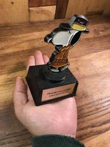 """他の写真3: Aviva Snoopy """"I'll make you an offer you can't refuse!"""" Trophy スヌーピー ビンテージ トロフィー 探偵 70年代"""