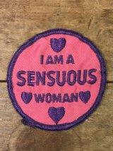 I Am A Sensuous Woman Patch メッセージ ビンテージ ワッペン ジョーク パッチ 70年代