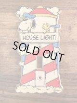 Peanuts Snoopy & Woodstock House Light! Switch Cover スヌーピー ビンテージ スイッチカバー ウッドストック 70年代