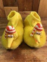 Sesame Street Big Bird Kids Slippers ビッグバード ビンテージ キッズスリッパ セサミストリート 70〜80年代