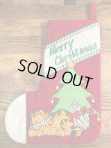 "Dakin Garfield ""Merry Christmas"" Christmas Stocking ガーフィールド ビンテージ クリスマスソックス 靴下 80年代"