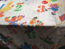 """他の写真3: Sesame Street """"Number"""" Twin Flat Sheet Deadstock セサミストリート ビンテージ フラットシーツ デッドストック 70年代"""