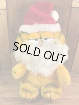 "Dakin Garfield ""Santa Claus"" Plush Doll ガーフィールド ビンテージ プラッシュドール 縫いぐるみ サンタクロース 80年代"