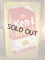 "Ken L Ration ""Ken L Meal"" Metal Sign ケネルレーション ビンテージ 看板 アドバタイジングキャラクター 50年代"