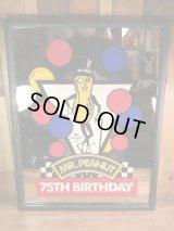 Planters Mr Peanut 75th Birthday Pub Mirror ミスターピーナッツ ビンテージ パブミラー アドバタイジングキャラクター 80年代
