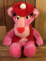 "Pink Panther ""Beret"" Small Plush Doll ピンクパンサー ビンテージ プラッシュドール 縫いぐるみ 80年代"