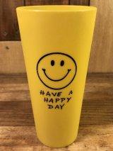 """Smile """"Have A Happy Day"""" Plastic Cup スマイル ビンテージ プラスチックカップ スマイルフェイス 70年代"""