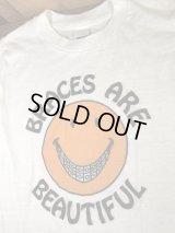 "Smile ""Braces Are Beautiful"" T-Shirt スマイル ビンテージ Tシャツ スマイルフェイス 70年代"