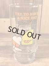 "Pizza Inn Ziggy ""Try To Have A Nice Day"" Glass ジギー ビンテージ グラス ガラスコップ 70年代"