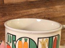 """他の写真1: Vegetable """"Soup"""" Ceramic Soup Mug 野菜 ビンテージ スープマグ 70年代"""