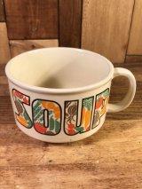"Vegetable ""Soup"" Ceramic Soup Mug 野菜 ビンテージ スープマグ 70年代"