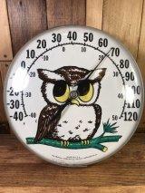 """The Original Jumbo Dial """"Owl"""" Thermometer フクロウ ビンテージ サーモメーター オウル 70年代"""